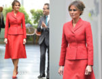 Melania Trump In Christian Dior - Paris State Visit