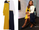 Naomie Harris' Cédric Charlier Colour-Block Whipstitched Dress