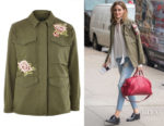 Olivia Palermo's Topshop Floral Embroidered Shacket