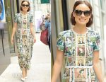 Olivia Wilde In Burberry -  'Live with Kelly and Ryan'