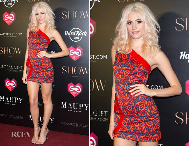 Pixie Lott In Versace - The Global Gift Gala Party