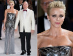 Princess Charlene of Monaco In Atelier Versace - 69th Monaco Red Cross Ball Gala
