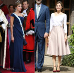 Queen Letizia of Spain In Giorgio Armani & Topshop - UK State Visit