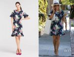 Reese Witherspoon's Draper James Hydrangea Row Peplum Knit Dress