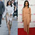 Regina Hall In Elisabetta Franchi & C/MEO Collective - 'Jimmy Kimmel Live' & 'Girls Trip' Atlanta Screening