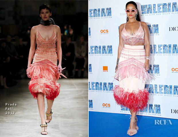 Rihanna In Prada - 'Valerian and the City of a Thousand Planets' Paris Premiere