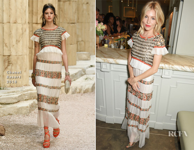 Sienna Miller In Chanel - 'Cat On A Hot Tin Roof' Press Night After Party