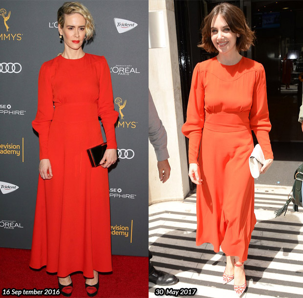 Who Wore Bella Freud Better? Sarah Paulson or Alison Brie?
