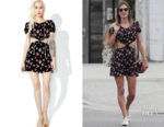 Alessandra Ambrosio's For Love & Lemons Cherry Cut Out Dress