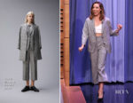 Aubrey Plaza In Thom Browne - The Tonight Show Starring Jimmy Fallon