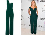 Blake Lively's Brandon Maxwell One-Shoulder Crepe Jumpsuit