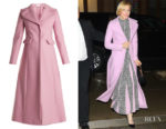 Cate Blanchett's Valentino Single-Breasted Wool-Felt Coat