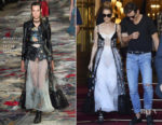 Celine Dion's street style takes a risqué route in Alexander McQueen