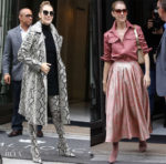 Celine Dion rocks Rochas on the streets of Paris