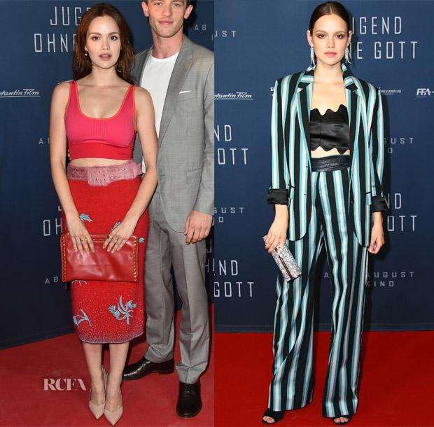 Emilia Schuele In Prada, Topshop & Jonathan Simkhai - 'Jugend ohne Gott' Munich & Berlin Premiere