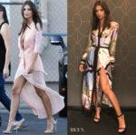 Emily Ratajkowski dons La Perla & Versace for her Jimmy Kimmel visit