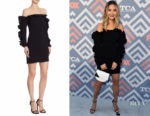 Jamie Chung's Cinq à Sept Rosemarie Off-the-Shoulder Dress