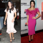 Jenna Dewan Tatum In Lela Rose & Marchesa - Live with Kelly and Ryan & 'Comrade Detective' LA Premiere
