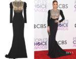 Jennifer Lopez's Reem Acra Embellished Gown