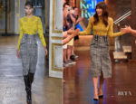 Jessica Biel In Zuhair Murad - Live with Kelly & Ryan