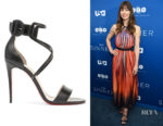 Jessica Biel's Christian Louboutin Choca 100 Leather Sandals