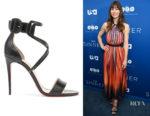 Jessica Biel's Christian Louboutin Choca 100 Leather Sandals