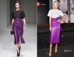 Karlie Kloss In Salvatore Ferragamo - Hanes x Karla Launch Party