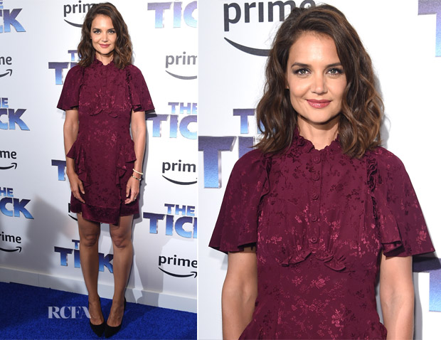 Katie Holmes In Maison Mayle - 'The Tick' Blue Carpet Premiere