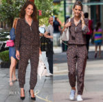 Katie Holmes showcases just how versatile her Maison Mayle jumpsuit is