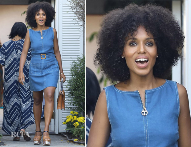 0e8b8188f3d Kerry Washington In Tory Burch – Jennifer Klein s 19th Annual Day of  Indulgence Party