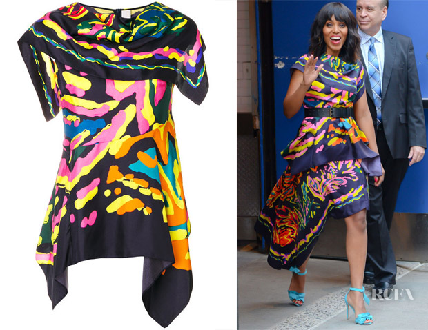 Kerry Washington's Peter Pilotto Silk Twill Scarf Top