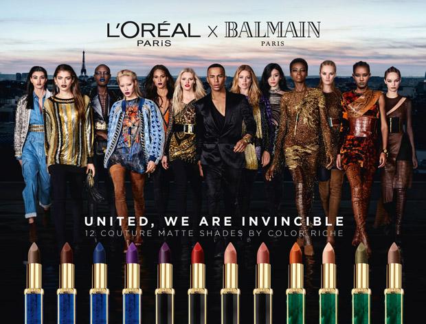 L'Oréal Paris x Balmain Paris Lipstick Ad Campaign