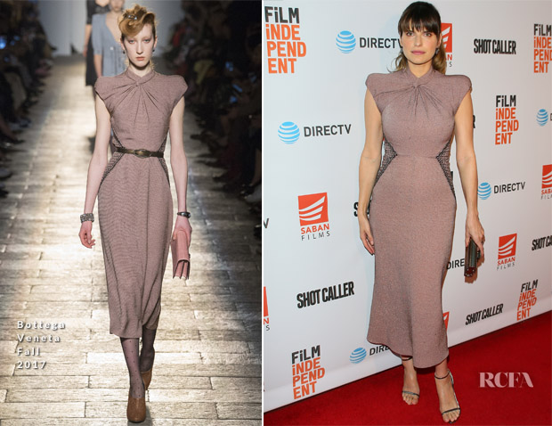 Lake Bell In Bottega Veneta - 'Shot Caller' LA Screening