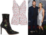 Lara Worthington's Altuzarra Eleanor Floral Top & Elliot Boots