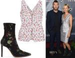 Lara Worthington's Altuzarra Eleanor Floral Top & Elliot Boots