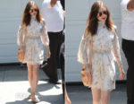 Lily Collins In Rachel Zoe - Jennifer Klein's 19th Annual Day of Indulgence Party
