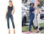 Nina Dobrev's Mother Cut It Out Jumpsuit in Absolutely, Positively