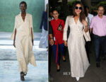 Priyanka Chopra makes a stylish return to Mumbai in Hellessy