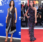 Rebecca Hall In Altuzarra & Armani Privé -  Jurors Photocall & 'Downsizing' Venice Film Festival Premiere