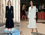 Rebecca Hall In Gabriela Hearst - Venice Film Festival Opening Ceremony Dinner