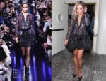 Rita Ora sparkles at Delilah in Elie Saab