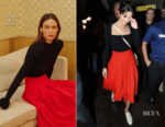 Selena Gomez steps out in LA in red and black Khaite