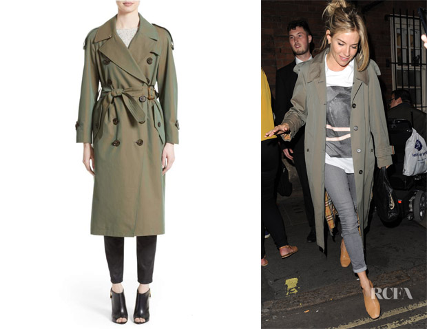 Sienna Miller's Burberry Tropical Gabardine Oversized Trench Coat