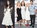 TimesTalks Series Presents 'The Glass Castle' with Brie Larson in Cinq à Sept & Naomi Watts in Zac Posen