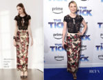 Valorie Curry In Marchesa Notte - 'The Tick' New York Premiere