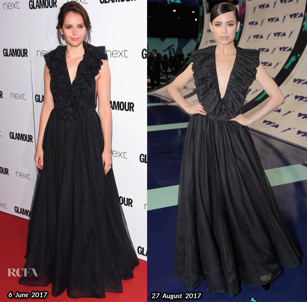 who wore christian dior better felicity jones or sofia carson