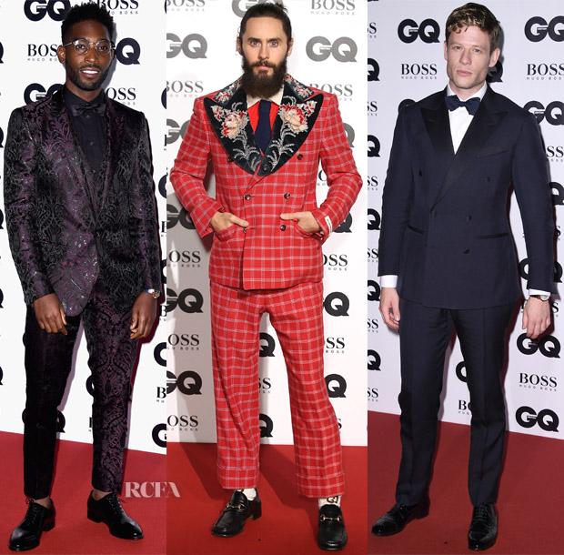 2017 Gq Men Of The Year Awards Menswear Red Carpet Roundup Red Carpet Fashion Awards