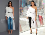 Adriana Lima In Johanna Ortiz - 'American Beauty Star' on Extra!