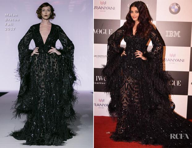 Aishwarya Rai Bachchan In Malan Breton Vogue Women Of The Year Awards Red Carpet Fashion Awards
