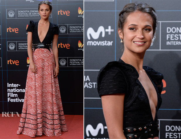 Alicia Vikander In Louis Vuitton - 'Submergence' San Sebastian Film Premiere